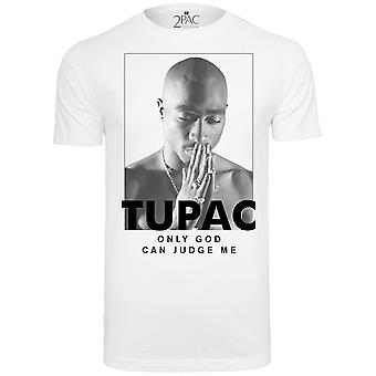 Mister Tee Shirt - 2PAC Only God Can Judge Me weiß