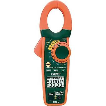 Current clamp, Handheld multimeter digital Extech EX720 Calibrated to: Manufacturer standards CAT III 600 V Display (co