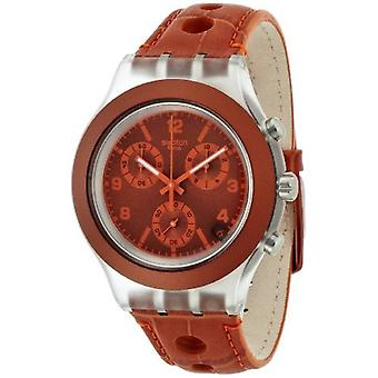 Staal Unisex SVCK4073 Rouille analoge Display Quartz horloge bruin