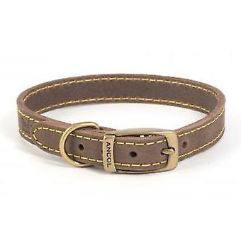 Timberwolf Leather Collar Sable 16mm X22-26cm