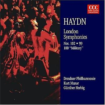 Haydn/Masur - Joseph Haydn: London Symphonies Nos. 99, 100 & 102 [CD] USA import