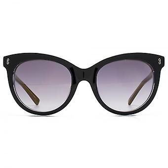 Hook LDN Juke Retro Tear-Drop Acetate Sunglasses In Black On Clear