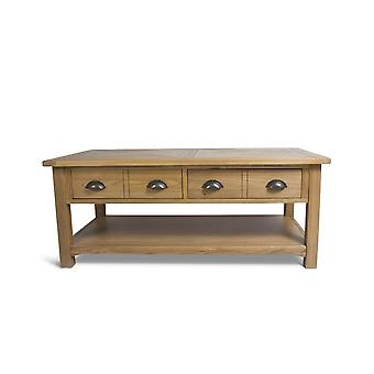 Direct Home Living Elm Lisbon Coffee Table With Drawers