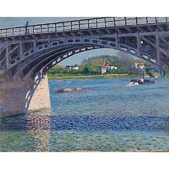 Gustave Caillebotte - Le pont dArgenteuil Poster Print Giclee