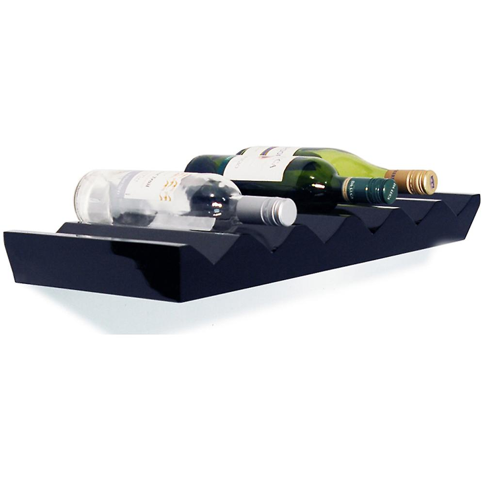Monteray - Wall Mounted Floating Wine Storage Shelf  - Black