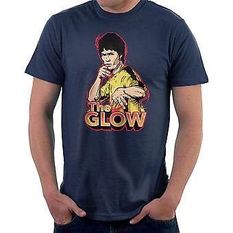 De gloed Bruce Lee mannen T-Shirt