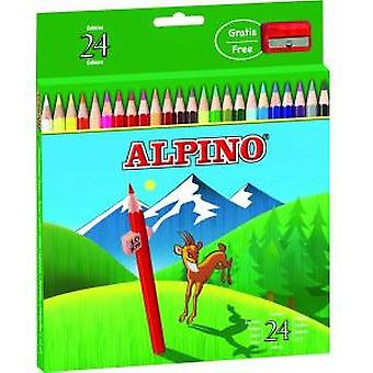 Alpino Case 24 Alpine Pencils (Toys , School Zone , Drawing And Color)