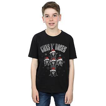 Guns N Roses Boys Christmas Cross T-Shirt