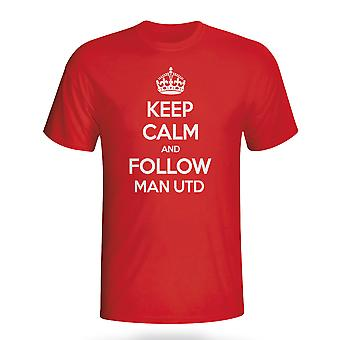 Keep Calm And Follow Man Utd T-shirt (red)