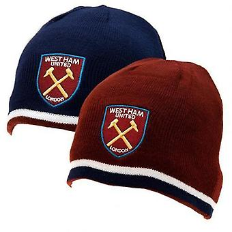 West Ham United Reversible Knitted Hat