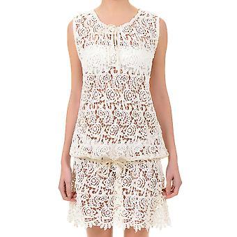 Plage de dentelle Floral blanc iconique robe 621-KE