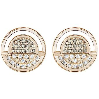 Swarovski Hillock Runde Ohrstecker - White - Rose Gold Plating - 5351081