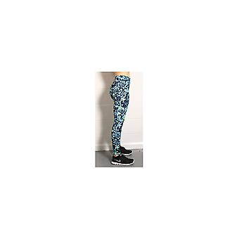 Proskins Womens Proskins Muscle Supportive High Stretch Blue & Yellow Leggings