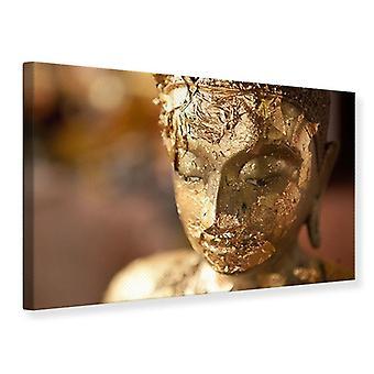 Canvas Print hoofd van een Boeddha
