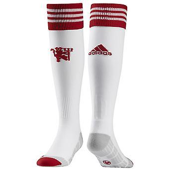 2015-2016 man Utd Adidas Accueil changer chaussettes (blanc)
