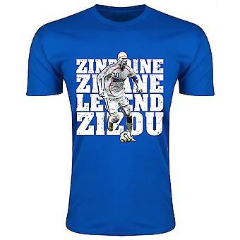 Zinedine Zidane Frankreich Legend T-Shirt (blau) - Kinder