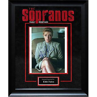 Sopranos - Signed by Edie Falco Framed Artist Series