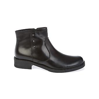 Donnapiu' women's 9945NERO black leather ankle boots