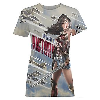 Wonder Woman Womens/Ladies Movie Victory WW1 Propaganda T-Shirt