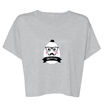 Funny Hipster Egg Graphic Women's Flowy Boxy Tee