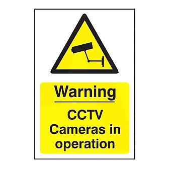 ASEC `Warning CCTV Cameras In Operation` 200mm X 300mm PVC Self Adhesive Sign