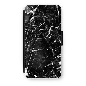 iPhone 6/6s Flip Case - svart marmor 2