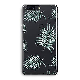 OnePlus 5 Transparant Case - Simple leaves