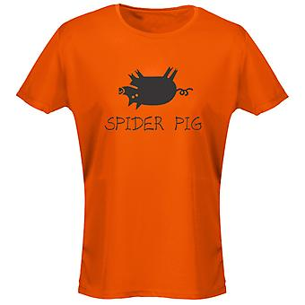Spider Pig Funny Womens T-Shirt 8 Colours by swagwear