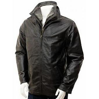 Dustin Mens Leather Jacket