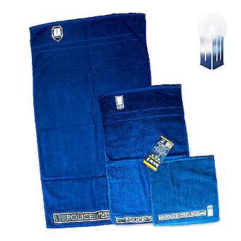 Doctor Who Tardis 3pc Towel Set