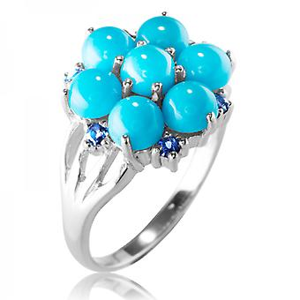Ladies Shipton And Co Silver And Turquoise Ring RQA617TQIO