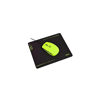 PORT Designs Neon Wired Mouse-Mousepad Lime-900532