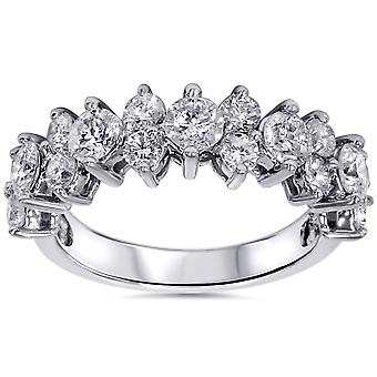 2ct бриллиант кольцо 14K Белое золото