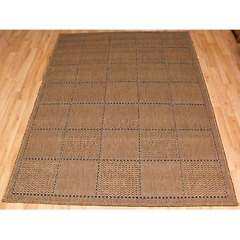 Checked Flatweave Natural Dark beige Rectangle Rugs Plain/Nearly Plain Rugs