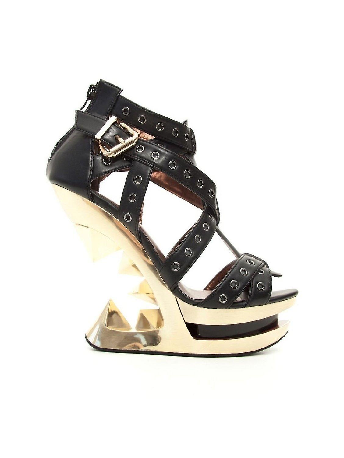 Hades Shoes H-Taunt Gold Wedge Heel