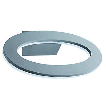 Led Outdoor Halo Oval Wall Bracket, Grey, Frosted Diffuser