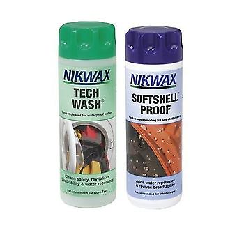 Nikwax Tech Wash & Softshell Proof Twin Pack - 300ML