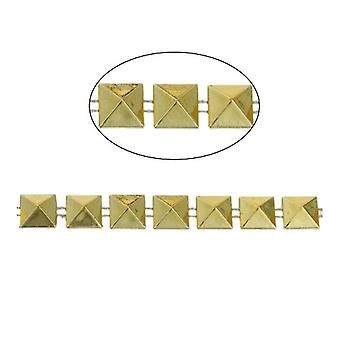 1.8m x Golden Acrylic 10mm Closed Decorative Link Chain CH2700