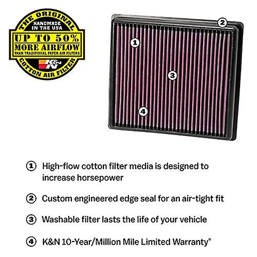 K&N 33-3057 ReplaceHommest Air Filter, 1 Pack
