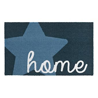 Doormat dirt trapping pad Star Home Blue 50 x 70 cm