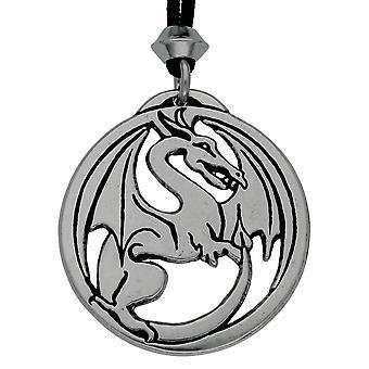 Handmade Gothic Dragon Draco Pewter Pendant