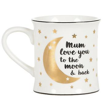 Sass y Belle mamá aman a la luna y taza