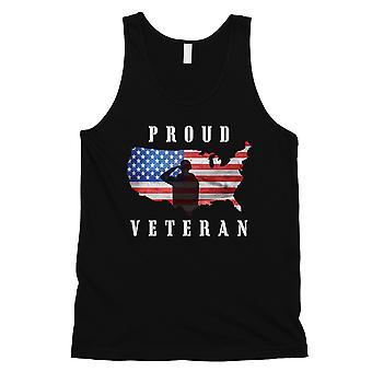 Stolz auf Veteran Mens schwarz 4. Juli Tank Top Geschenk für Veteranen