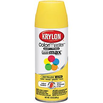 Colormaster Indoor/Outdoor Aerosol Paint 12oz-Gloss Sun Yellow