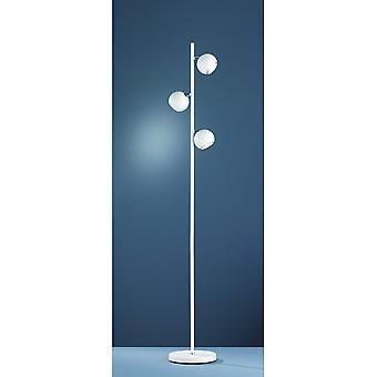 الثلاثي الإضاءة داكوتا الحديثة المعدن مات الأبيض الطابق مصباح