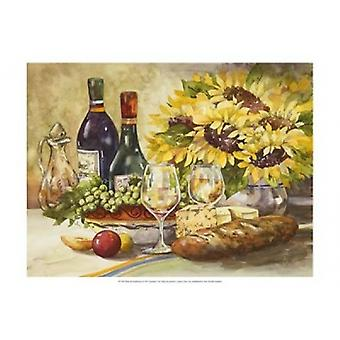 Wine & Sunflowers Poster Print by Jerianne Van Dijk (19 x 13)