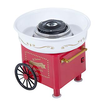 HOMCOM Electric Instant Candy Floss Maker Cotton Candy Machine Kitchen DIY Household 450W Red