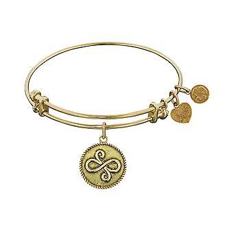 """Slät yta mässing bästa vänner Angelica armband armband, 7,25 """""""