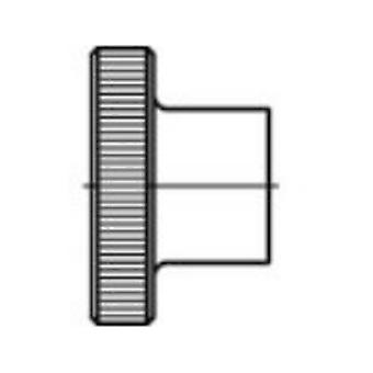 TOOLCRAFT 107574 Knurled nuts M3 DIN 466 Steel 100 pc(s)