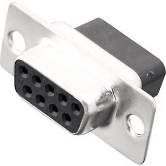 MH Connectors MHDBC09-SS D-SUB receptacles 180 ° Number of pins: 9 Crimp 1 pc(s)
